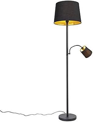 Qazqa Lampadaire   Lampe sur pied Classique - Retro Lampe Noir - E27 - Convient pour LED - 1 x 60 Watt