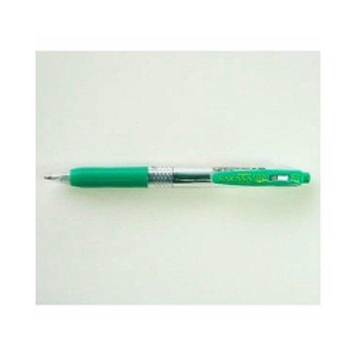 ゼブラ ゲルボールペン サラサクリップ 0.7 緑 JJB15-G 【3本】