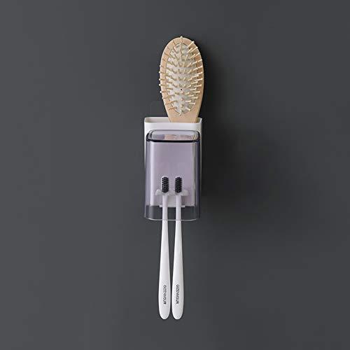 Suporte de escova de dentes montado na parede BeesClover para armazenamento de pasta de dente para acessórios de banheiro estilo de vida criativo, Single Mouth Toothbrush Holder