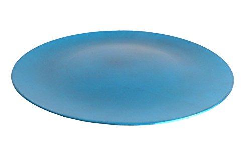 Schöner großer Dekoteller blau Ø33 cm Teller aus Kunststoff Dekoration