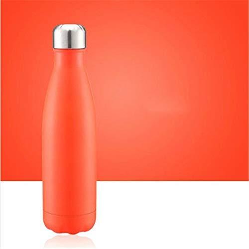 Taza térmica de vacío Taza térmica Frasco de vacío Botella de agua de agua Portátil Doble pared vacío Acero inoxidable Hervidor de deportes, capacidad: 500 ml (color turquesa) (color: océano azul) wmp