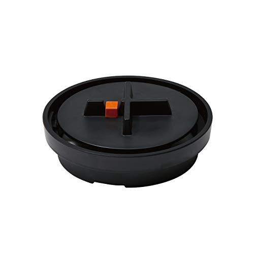 ideaco (イデアコ) 蚊取り線香入れ ブラック 幅16cmx奥行16cmx高さ5.7cm Manhole(蚊やり マンホール)