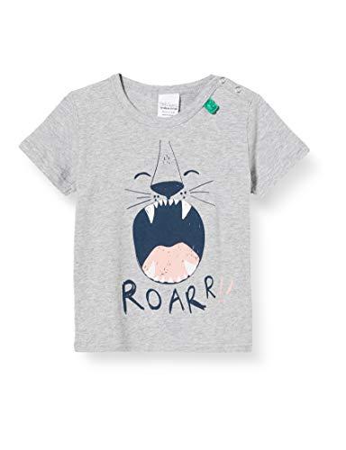 Fred'S World By Green Cotton Safari S/s Roar T Baby T-Shirt, Gris (Pale Greymarl 207670000), 86 Bébé garçon