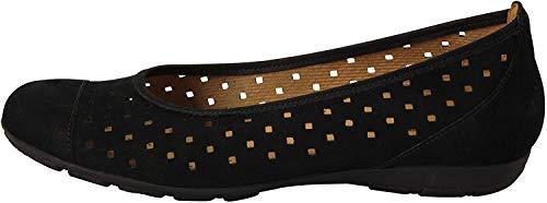 Gabor Women's Ruffle Casual Shoes 5.5 C (M) UK/ 7.5 B(M) US Black Nubuck