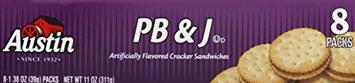 Austin PB & J Cracker Sandwiches, 1.38 oz, 8 count