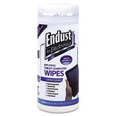 - Tablet and Laptop Cleaning Wipes, Unscented, 70/Tub