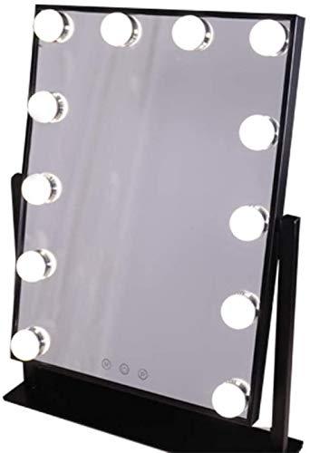 Y DWAYNE Espejo de Maquillaje Iluminado Espejo de tocador Espejo de Maquillaje con luz Smart Control 3 Colores Dimable Light Desmontable
