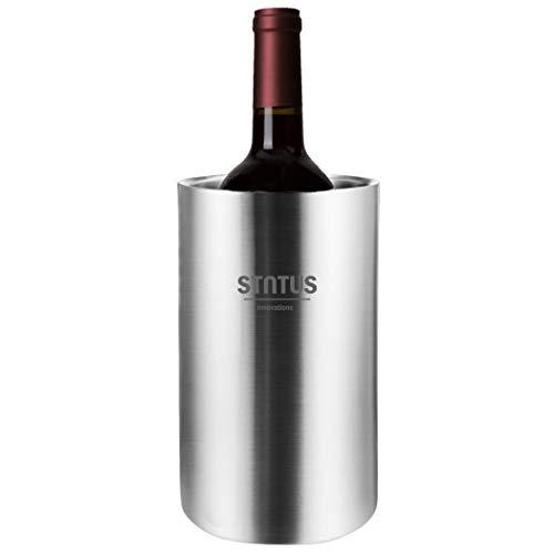Weinkühler, STNTUS Flaschenkühler für Wein, Doppelwandig Sektkühler Edelstahl, Flaschen Kühler