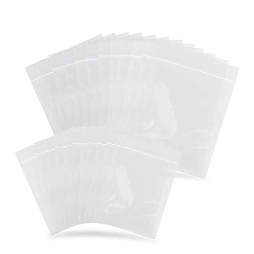 3x3 Beutel Plastik Zip Beutel wiederverschließbar 9 Stk 3 Größen wasserdicht