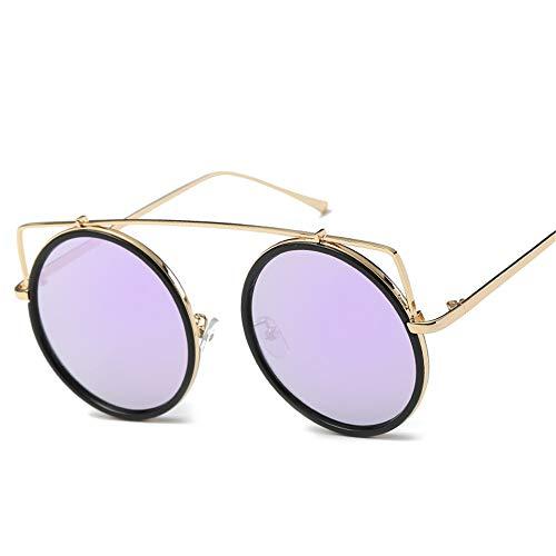 DURIAN MANGO Mode Retro Lady Sonnenbrille Metall Mode Edelstahldraht Sonnenbrille,Purple