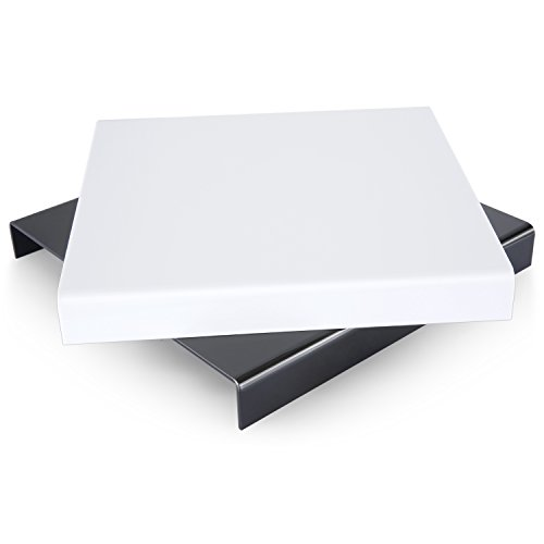 """Neewer 9.4""""x 9.4""""/24 x 24cm Acrylic Reflective Riser Display Table for Product Table Top Photography Shooting(Black and White)"""