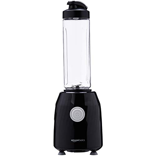 AmazonBasics - Batidora para smoothies Blend & Go, 600 ml, 600 W - Negro