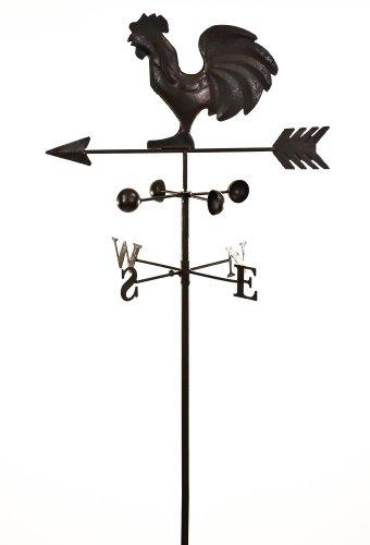 east2eden Dark Metal Cockerel Wind Weathervane Weather Vane Garden Ornament