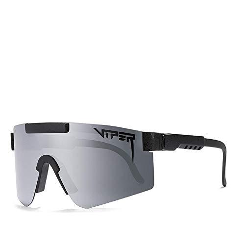BGRFT Gafas de sol Pit Viper, doble ancho polarizado, espejo azul, lente Tr90, protección Uv400, gafas de sol deportivas para ciclismo C08