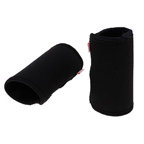Hunde Kniebandage Gelenkschutz Bandage für Vorderbein oder Hinterbein, 2er / Set - Schwarz M