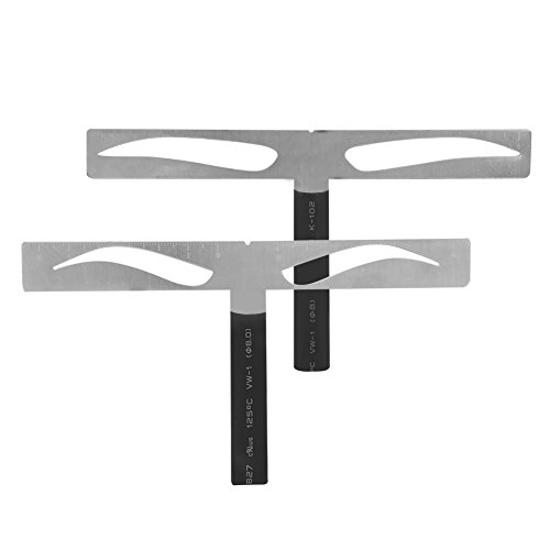 Reusable Eyebrow Shaping Stencils, 2 Types Permanent Eyebrow Ruler Eyebrow Measure Balance Extension Ruler Eyebrow Shape Designer, Your Best Makeup First Aid DIY tool(Classi