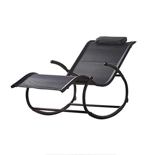 N /A Chaise longue à bascule avec coussin amovible, pour balcon, salon, chambre, porche, terrasse, jardin