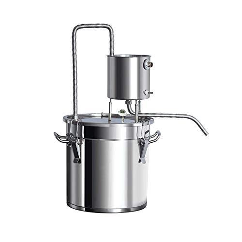 Nai-storage Destilador de Olla Antiadherente Moonshine Still Steamer Máquina de Aceite Esencial Tianmu Máquina de rocío Puro Acero Inoxidable 304 (Size : 20L)