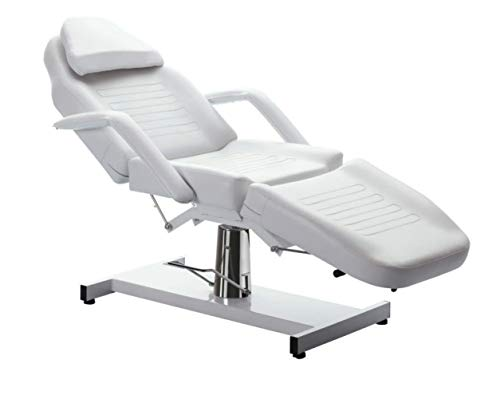 Salon Style Facial Massage Table Bed Chair Vintage Professional Adjustable Table Chair Beauty Spa Salon Tattoo Beauty Equipment, White