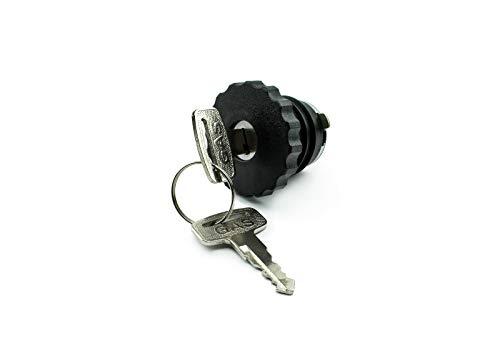 Tankdeckel 30 mm Schwarz abschließbar für Kleinkarftrad, Mofa