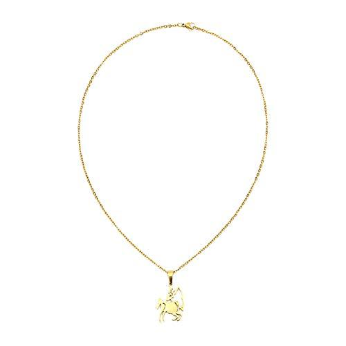 LAAT Collar con Colgantes de 12 Constelaciones Mujer Navidad Regalo de Color de Oro Size Oro (Sagitario)