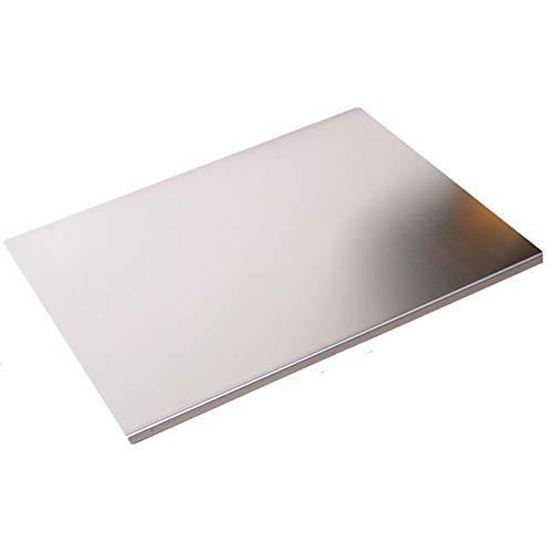 WWWANG 580 mm de Acero Inoxidable Encimera Ahorro Tabla de Cortar de Cocina Ronda Edge Almacenamiento pequeño, práctico y portátil (Color : Silver, Size : W580×L700×1.5mm)