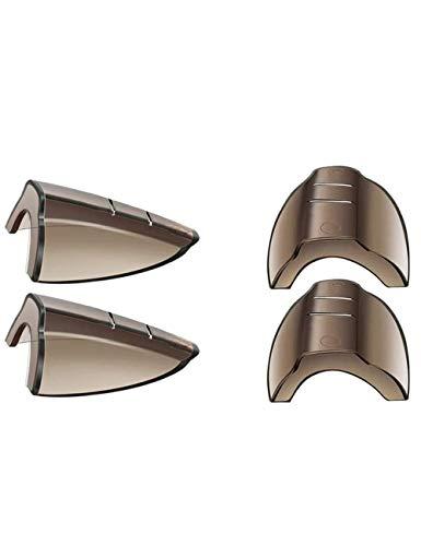 Protectores laterales antideslizantes flexibles para gafas de seguridad, se adaptan a lentes pequeñas a medianas (2 pares)