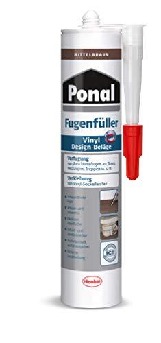 Ponal PV6MB Fügenfüller für Vinyl Design-Beläge, Mittelbraun