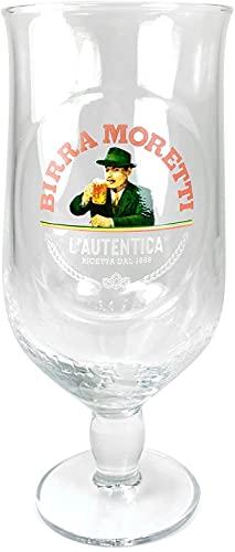 Birra Moretti Schooner - Set di bicchieri da 2/3 pinta, misura per servire la casa
