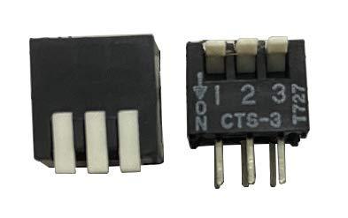 5 interruptores DIP CTS 195-3MS de 3 bits tipo tecla piano interruptor lateral de codificación 3P de 2,54 mm
