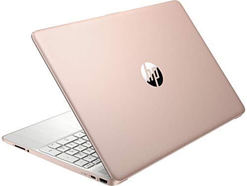 HP 15.6inch HD Laptop, AMD Quad-Core Ryzen 5 3500U Processor Up to 3.70GHz, 8GB DDR4 RAM, 256GB NVMe M.2 SSD, AMD Radeon Vega 8 Graphics, Win10 OS, Rose Pink (Renewed)