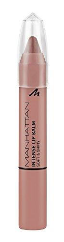 Manhattan Intense Lip Balm Soft & Shiny – Pflege, glänzendes Finish & intensive Farbe in einem Lippenstift – Farbe Frappuccino 500 – 1 x 3g