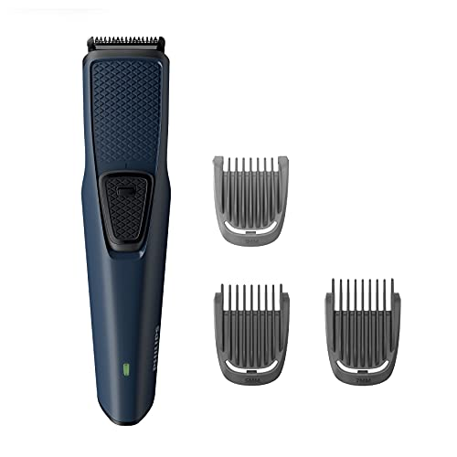 Philips BT1232/15 Skin-friendly Beard Trimmer - DuraPower Technology, Cordless Rechargeable with USB Charging, Charging indicator, Travel lock, No Oil Needed