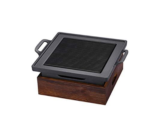 liushop Barbecue Griglia Coreano Giapponese Tavolo Barbecue Barbecue Portatile Stufa Charcoal Grill con Strumenti di Legno Base Domestica Antiaderente Cottura per Esterno o dell'interno BBQ