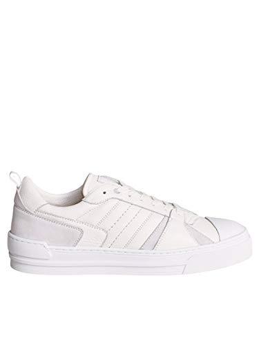 SALSA JEANS Zapatillas Trainers Piel Blancas para Hombre Mujer Color: 0001 Blanco Talla: 43