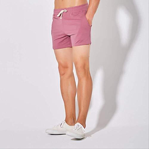 zoyolo Baumwoll-DREI-Punkt-Hose Männer, Badminton-Hose, Große Sportshorts Fitness-Laufhose 3XL purpurn