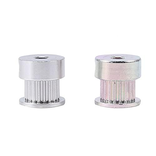 Kathlen Polea de Correa 2 uds polea de Diente de Engranaje de aleación de Aluminio 5mm diámetro Interior 20 Dientes para Impresora 3D