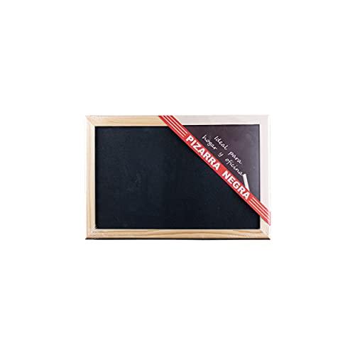 BESCH Pizarra Negra de Tiza con Marco de Madera Natural para Oficina, Restaurantes, Colegios, Tiendas, Hogares y Cafeterias de Fácil Instalación. (20x30cm)