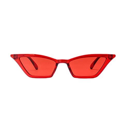 OULN1Y Gafas de sol Sunglasses Women Retro Colorful Transparent Colorful Fashion Cateye Sun Glasses Men Uv400