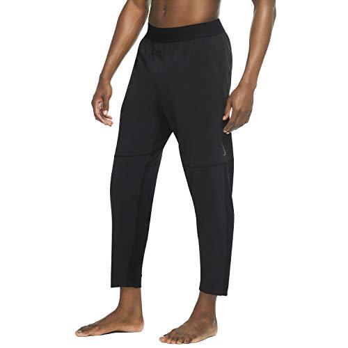 NIKE M Nk Pant CW Yoga Pantalones, Negro/Gris, Hombre