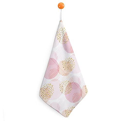 Ideal para el diseño de bebé niña, toallas de mano premium, fibra superfina, ultra suaves y altamente absorbentes, toallas de mano extra grandes gruesas de 30 x 30 cm, toallas de cocina