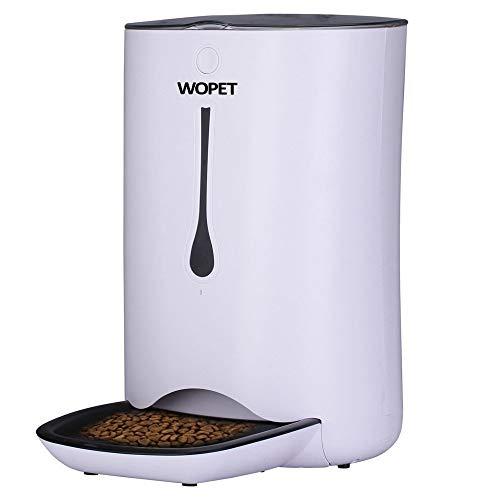 WOpet ペット給餌器 自動給餌器 音声録音機能搭載 コンセントでも電池でも使える自動えさやり機 自動きゅ...