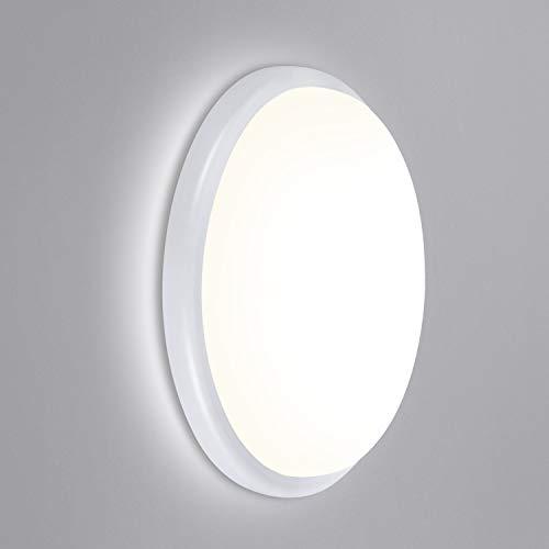 Oeegoo LED Deckenleuchte, 18W 1440LM LED Deckenlampe, IP54 Wasserdicht LED Leuchte Badlampe Feuchtraumleuchte, LED Wannenleuchte Wandlampe für Flur Keller Garten Balkon Außenwand Neutralweiß 4000K