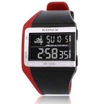 KEHUITONG Marken Klassische Mode-Animation Multifunktions Daterproof Tauchen LED leuchtende elektronische Uhren Stoppuhr Countdown 100M GI (Farbe : GI 003)