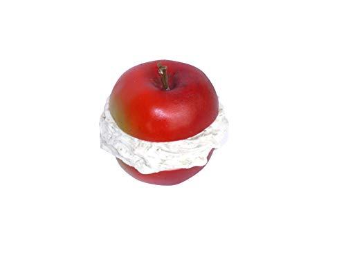ERRO Pomme de Noël avec garnissage en plastique imitation crème – nourriture factice 2ème choix – Imitation plastique pour théâtre et production TV