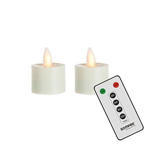 2er Set Sompex Flame LED Teelichter mit Fernbedienung