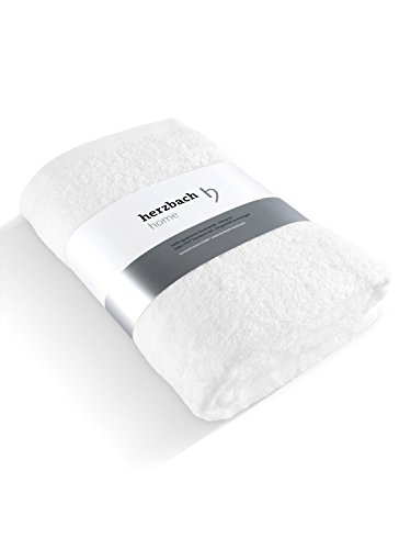 herzbach home Luxus Saunatuch Premium Qualität Weiß