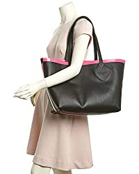 Burberry Women's Medium Giant Reversible Tote in Canvas and Leather Pink