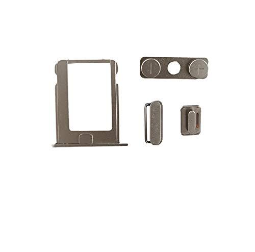 Smartex® Taste + SIM Karten Halter kompatibel mit iPhone 4S / Power On Off, Mute, Volumen Ersatzteil