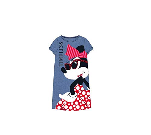 Disney Minnie Maus Damen Nachthemd Gr. S/M/L/XL (Blau, M)